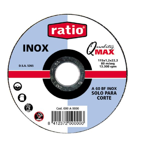 DISCO RATIO INOX/METAL 115*1*22,2